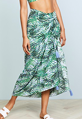 Red Carter Palm Party Sarong