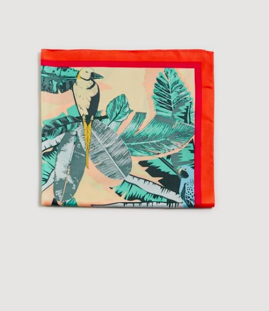 MANGO Tropical printed scarf