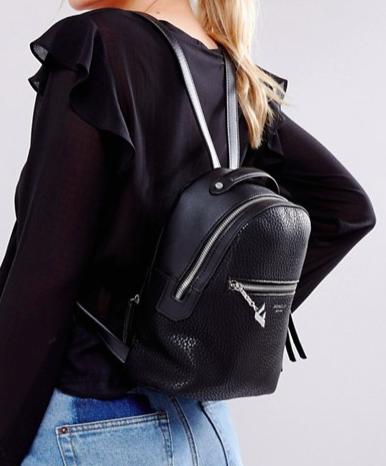 Fiorelli Mini Anouk Black Tumbled Backpack