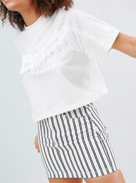 Monki Fringe T-Shirt