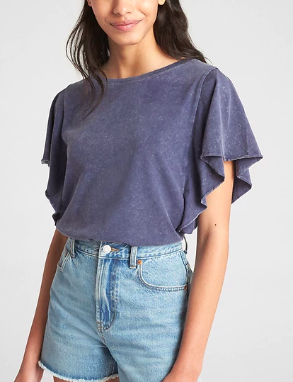 Gap Vintage Wash Flutter Sleeve T-Shirt