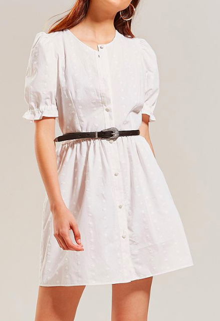 Lykke Wullf Alice Embroidered Button-Down Dress