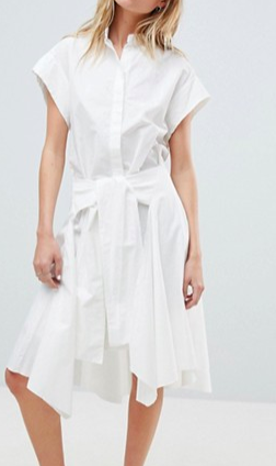 AllSaints Shirt Dress with Self Tie
