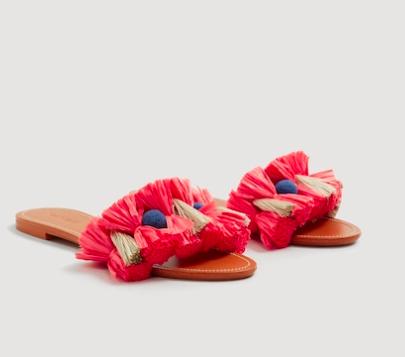 Mango Tassels flat sandals