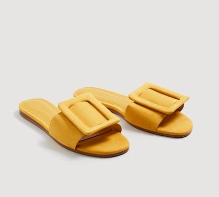 Mango Buckle flat sandals