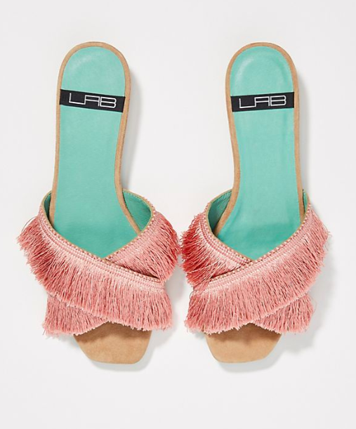 LAB Fringed Slide Sandals