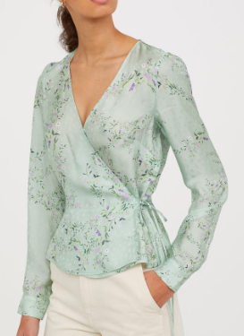 HM Patterned Wrapover Blouse