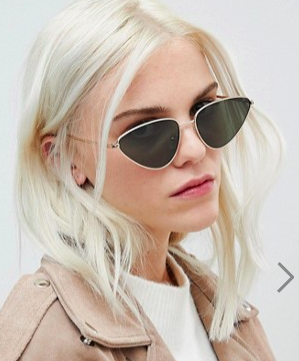 ASOS Metal Cat Eye Sunglasses