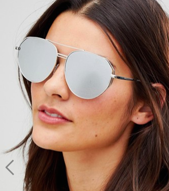 Jeepers Peepers Aviator Sunglasses In Silver