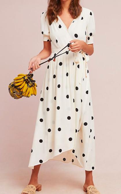 maeve Breanna Polka Dot Wrap Dress