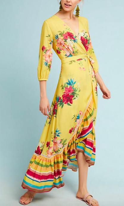 Farm Rio Marketplace Wrap Dress