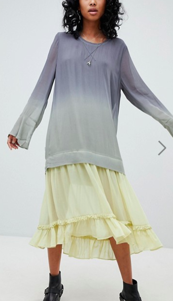 Religion Maxi Dress In Dip Dye