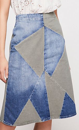 FP Etienne Marcel Two Toned Patch Skirt