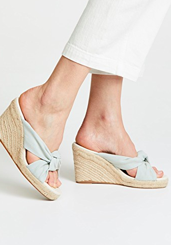 Soludos Knotted Wedge Sandals