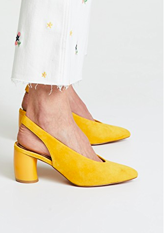 JAGGAR Tempt Curved Heel Pumps