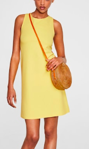 Mango Back vent dress
