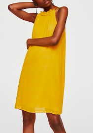 Mango Textured ruffled dress