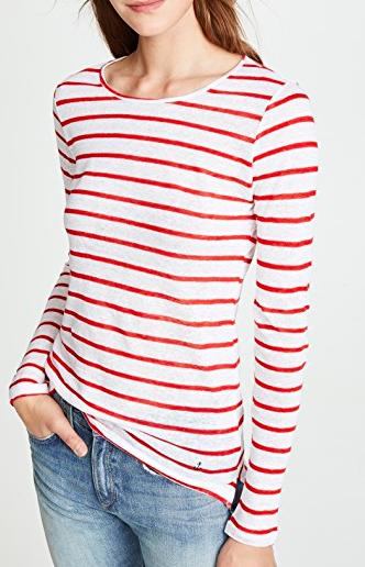 ONE by Stripe & Stare Breton Jersey Long Sleeve Tee