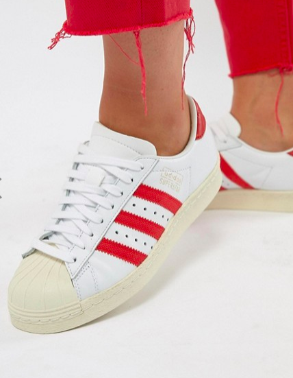 adidas Originals Superstar Og Sneakers In White And Red