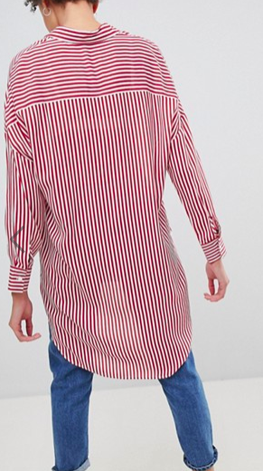 Stradivarius Oversized Stripe Shirt