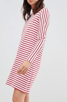 Mads Norgaard Signature Striped Dress in Organic Cotton