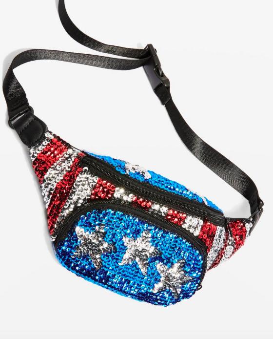 Topshop Sequin Bum Bag