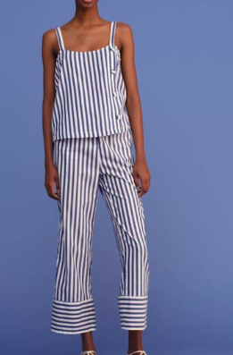 Mango Buttons striped top