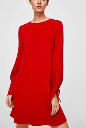 Mango Puffed sleeves dress