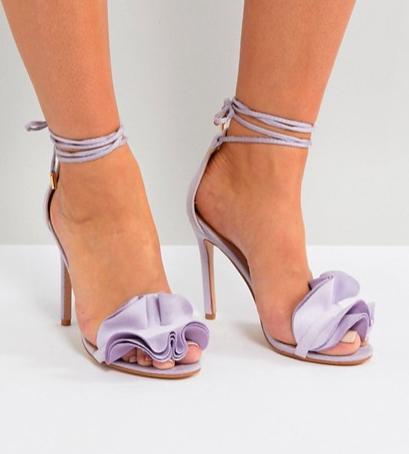 Public Desire Sugar Lilac Heeled Sandals