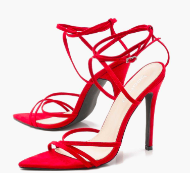 Sophie Extreme Pointed Toe Wrap Strap Heels