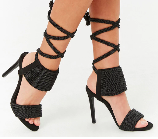 Privileged Shoes Lace-Up Heels