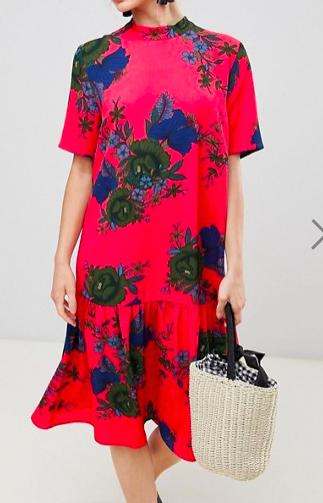 JDY Bold Floral Smock Dress