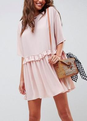 ASOS DESIGN mini smock dress