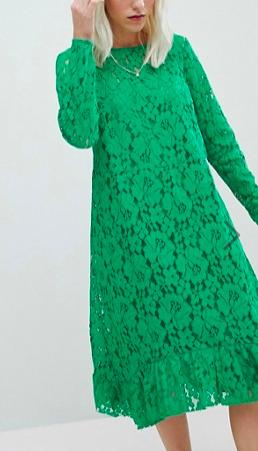 ASOS Lace Midi Swing Dress