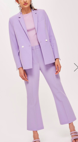 Topshop Cropped Double Breasted Suit