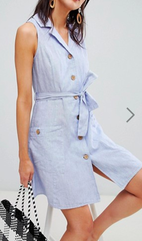Mango Sleeveless Pocket Detail Dress