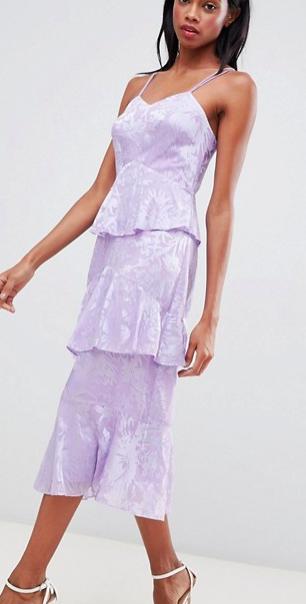 Whistles Ruffle Floral Midi Dress