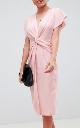 ASOS Twist Midi Dress with Kimono Sleeve