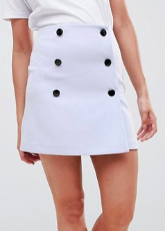 ASOS DESIGN double breasted mini skirt