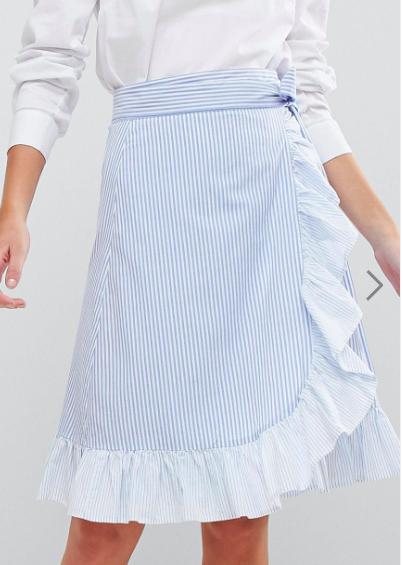 Max&Co Ruffle Wrap Skirt