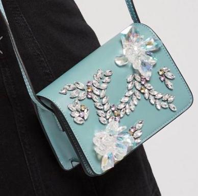 Topshop Frozen Embellished Cross Body Bag