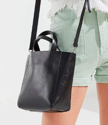 UO Mini Leather Tote Bag