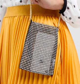 River Island Chainmail Pouch Crossbody Bag