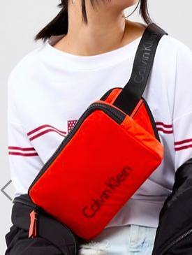 Calvin Klein Nylon Logo Crossbody Bag