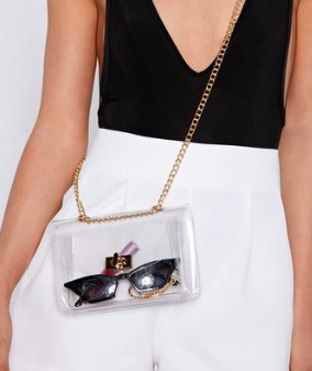 WANT See For Yourself Clear Crossbody Bag
