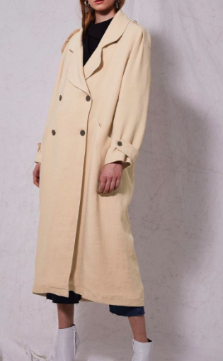 **Linen Trench Coat by Boutique