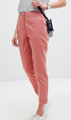 ASOS Tailored Linen Cigarette Pants