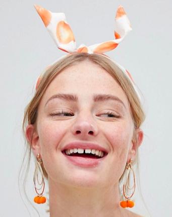 ASOS Summer Fruit Print Knot Headband