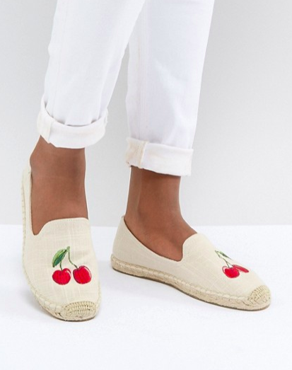 Soludos Cherry Embroidered Espadrilles
