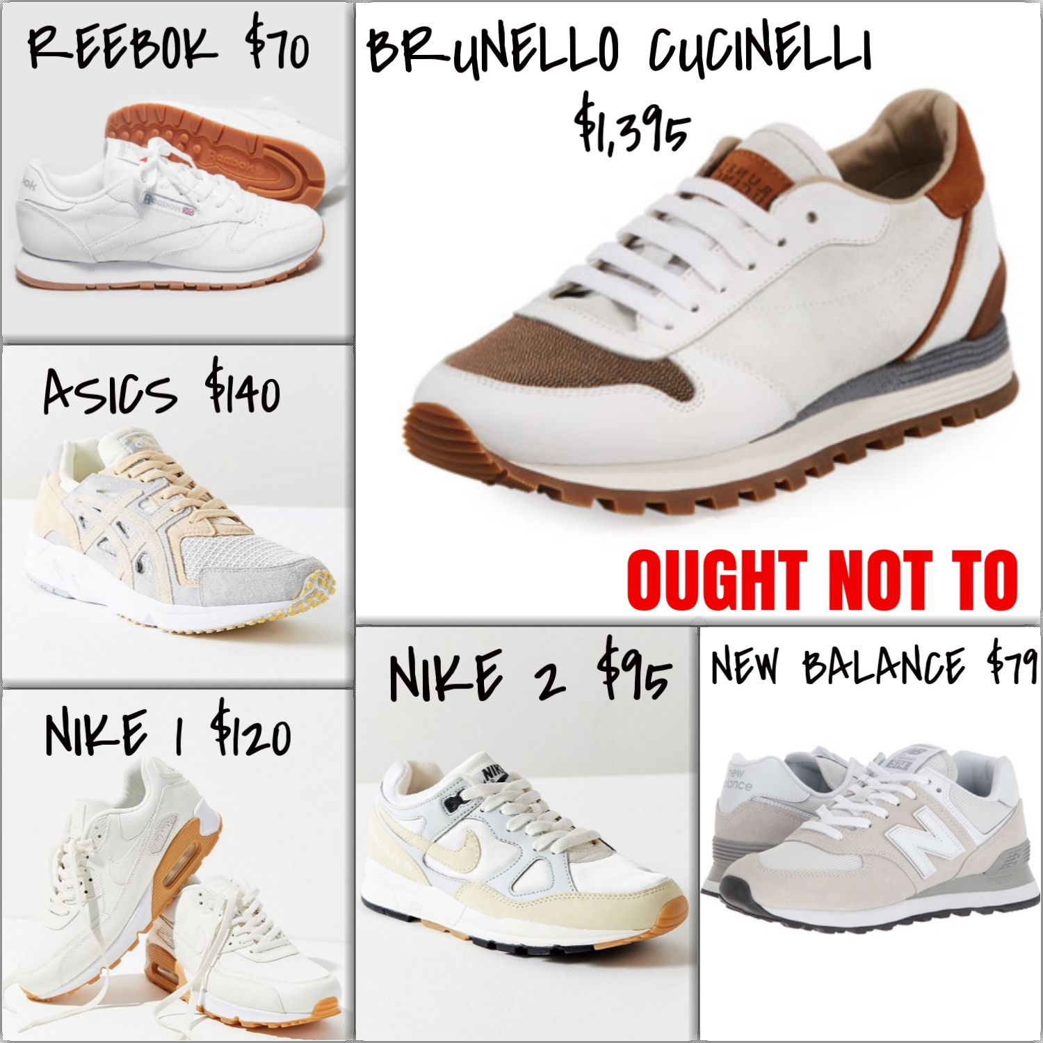 Ought Not To, Ought To: Sneakers Edition | TrufflesandTrends.com